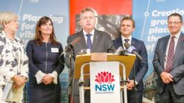 Coordinator General, Lee Shearer, Member for Robertson, Lucy Wicks, NSW Planning Minister, Anthony Roberts, Taylor Martin MLC and Parliamentary Secretary, Scot MacDonaldCoordinator General, Lee Shearer, Member for Robertson, Lucy Wicks, NSW Planning Minister, Anthony Roberts, Taylor Martin MLC and Parliamentary Secretary, Scot MacDonald