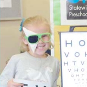 Penelope had her eyes tested by the StEPS program.