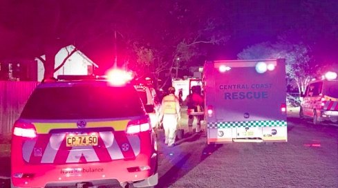 Central Coast Rescue Squad on the scene at Tuggerawong