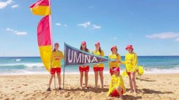 flags at Umina Beach to celebrate the start of the 2018 summer season