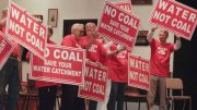 A previous demonstration against the coal mine