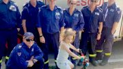 FRNSW Kincumber members with their young patient