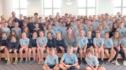 Copacabana Public School students with their Federal MP, Lucy Wicks