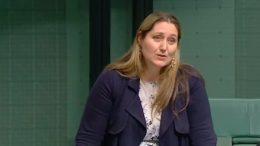 Emma McBride, Federal Member for Dobell addressing parliament