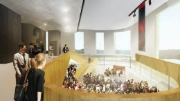 One of several mock-ups made by FOPAP of the inside of a future Performing Arts Centre