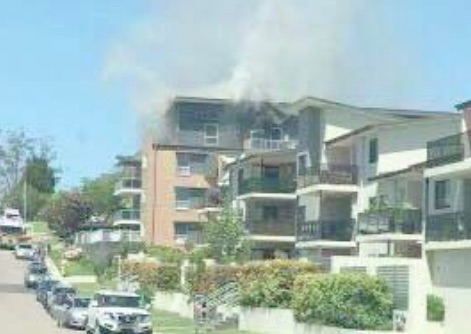 North Gosford building had to be evacuated due to fire