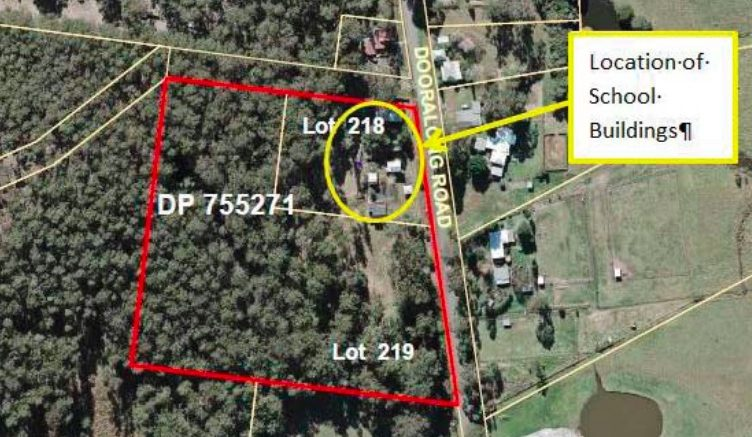 The proposed subdivision of the former school site