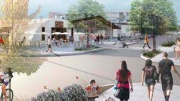 Artist's impression of a future Ourimbah town centre