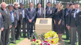 To: The Tuggerah Lakes Branch of the National Servicemen's Association at the Glenvale School Memorial unveiling