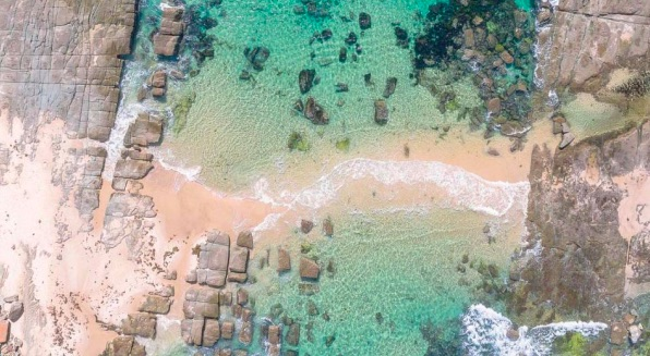 Soldiers Beach was one graded as one of the best on the Coast in this year's State of the Beaches Report Photo: Central Coast Drones