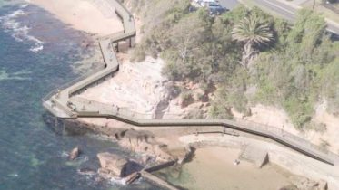Artists impression of the proposed boardwalk at Terrigal.