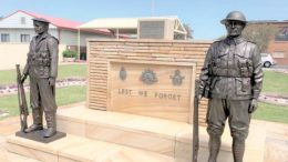 Toukley RSL Sub Branch have installed two new statues at the RSL Cenotaph