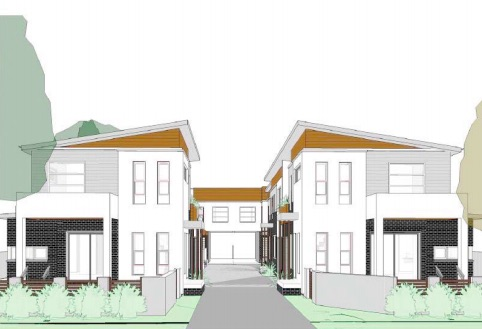Plans for amended development with seven dwellings in Webb Rd, Booker Bay
