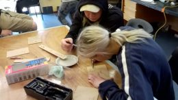 Eagle Arts and Vocational College students in the classroom. Image: Eagle Arts and vocational college.