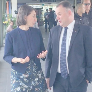 NSW Premier Gladys Berejiklian, and Member for Terrigal, Adam Crouch