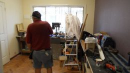 The inside of the current Umina Men's Shed is running out of room.
