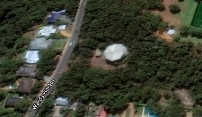 The Council water tower at Wards Hill Rd at Killcare Heights is the proposed location for the mobile phone tower. Image: Google Maps.