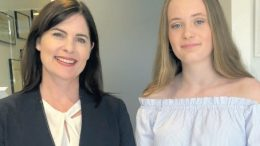 Lucy Wicks, Member for Robertson, and Narara student, Niamh Watson