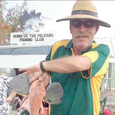 Woy Woy Bowling Club's Pelicans Fishing Club member.