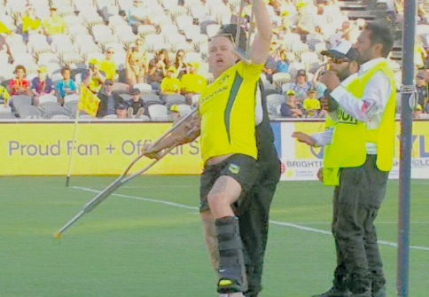 Pitch invader at Central Coast Stadium
