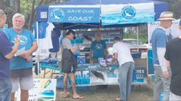 The Save Our Coast stand at the Umina Woytopia festival was popular.