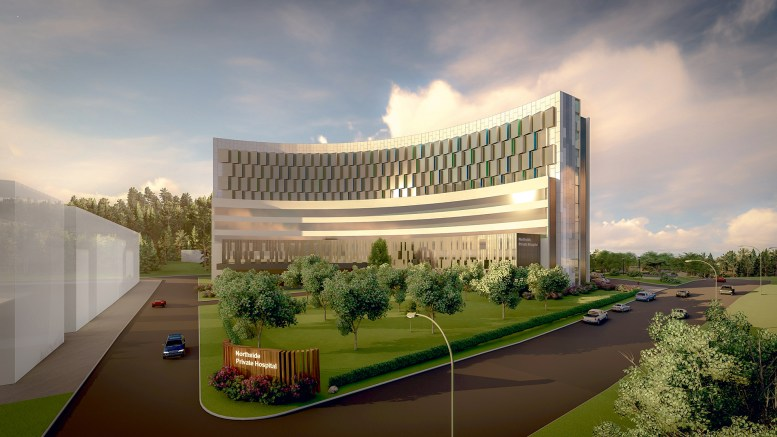 Artist's impressions of the new hospital and medical precinct proposed in Gosford.