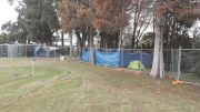 Homeless locals have been living on the grounds of Austin Butler Oval at Woy Woy.