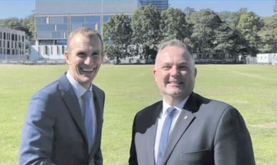 NSW Planning & Public Spaces Minister Rob Stokes on the Central Coast with Terrigal MP, Adam Crouch