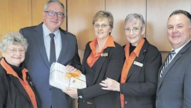 Committee members of Elsie's Retreat present NSW Health Minister with the petition together with Terrigal MP Adam Crouch