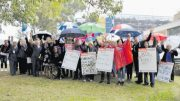 Some of the nurses and midwives at last Thursday's protest