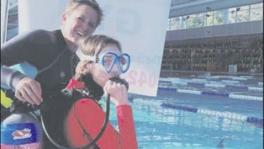 Scuba Gym sessions with local sessions conducted at the Peninsula Leisure Centre.