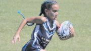 Touch football player in full flight. Image: Peninsula Touch Association