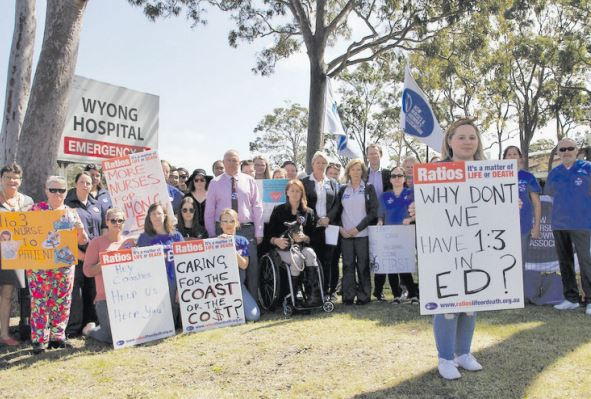 The rally at Wyong Hospital