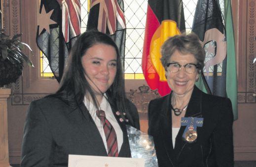 Mikayla Gualtieri with Margaret Beazley