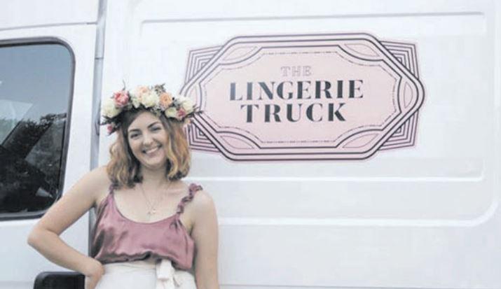Alana Becker with her Lingerie Truck