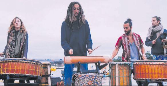 The Rhythm Hunt drummers