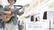 Murray Mandel is bringing his Lifeline busking tour to Erina