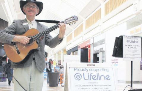 Murray Mandel is bringing his Lifeline busking tour to Erina