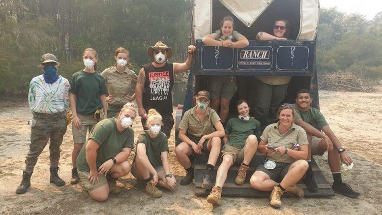 Animal relocation volunteers