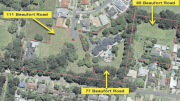 The lots, in Beaufort Rd, are currently zoned 7(c2) Conservation and Scenic Protection