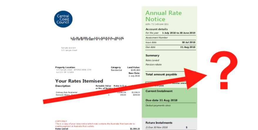 Rates Notice.
